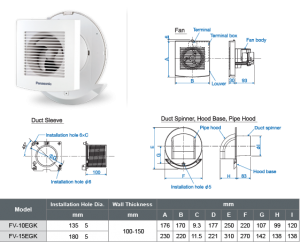 Panasonic Exhaust Fan [FV-10EGK1NBH]