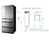 Panasonic 6 Door Fridge [NR-F681GT-X7]