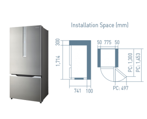 Panasonic ECONAVI Inverter Fridge [NR-BY558XS]