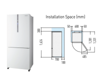 Panasonic ECONAVI Inverter Fridge [NR-BX418GW]