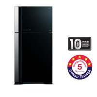 Hitachi 2 Door Fridge [R-VG660P3M GBK]