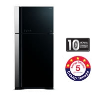 Hitachi 2 Door Fridge [R-VG710P3M GBK/GGR]