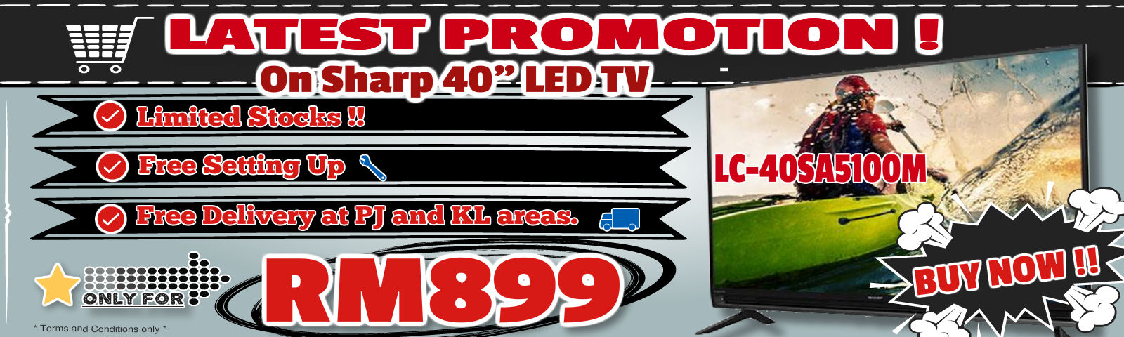 "Sharp 40"" LED TV on Promo!! Only RM899 !!"