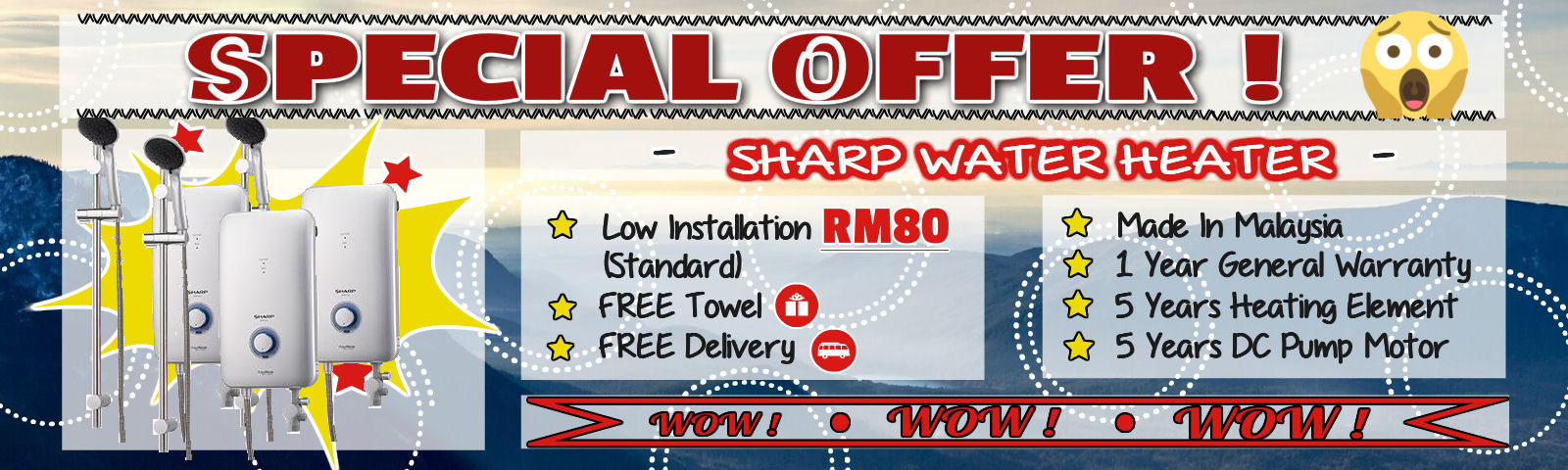 Sharp Water Heater On Offer!!