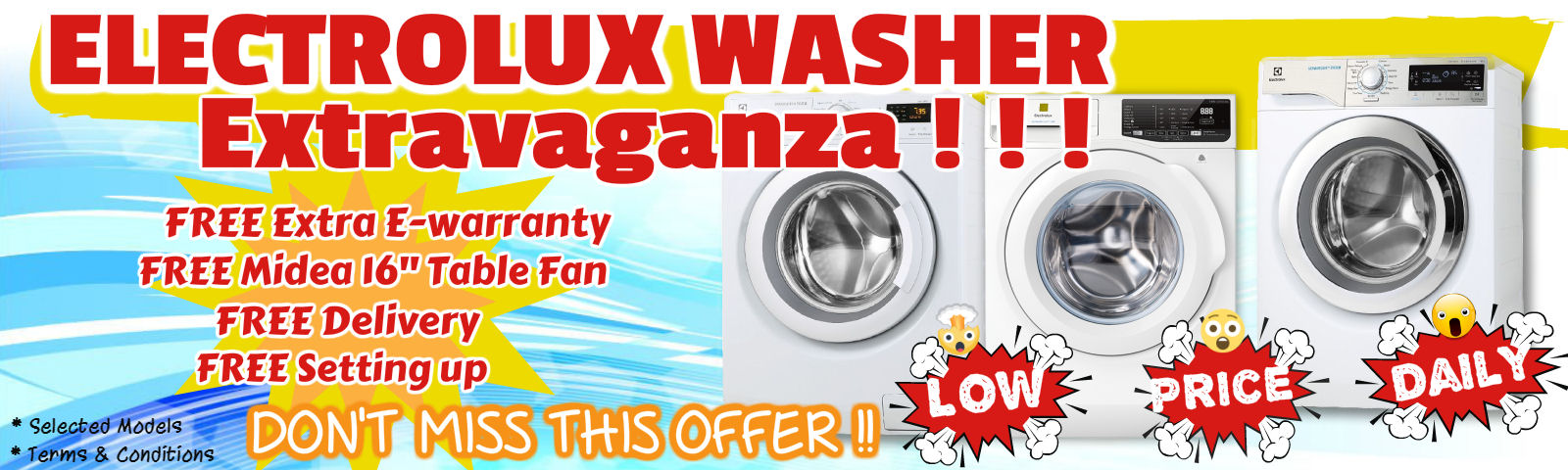 Electrolux Washer Extravaganza Offer!!