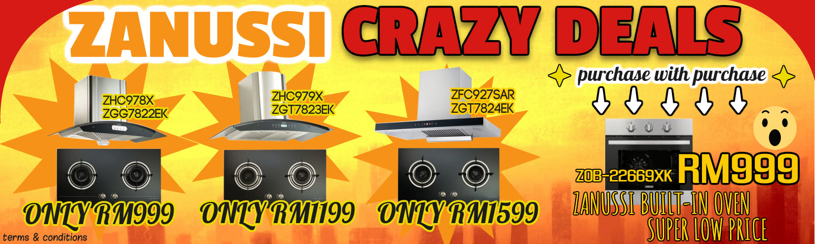 Promotion on Zanussi Hob and Hood!!